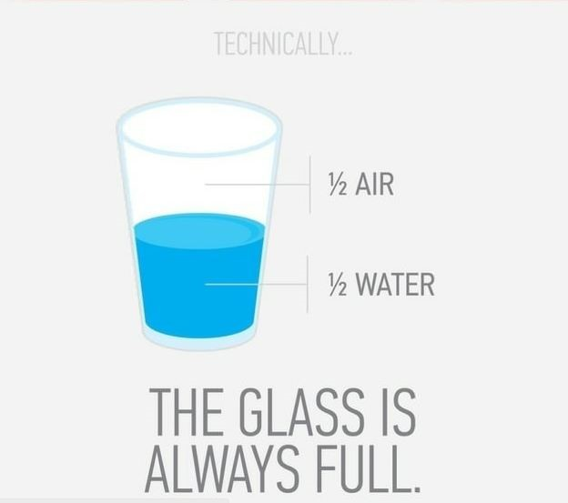 A glass is always full